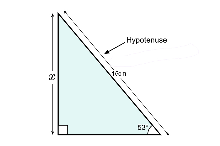 Example of a hypotenuse
